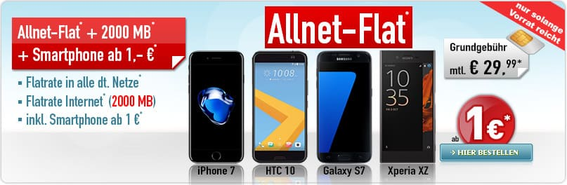 Sonder-Aktion Allnet-Flat 29,99 Aktion